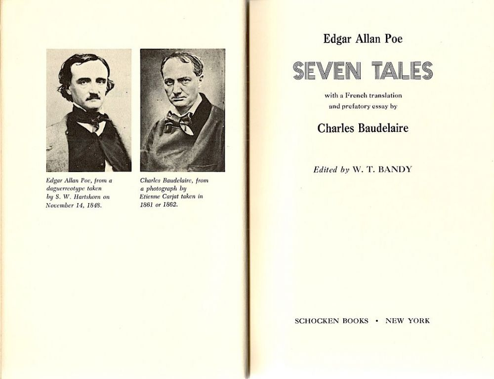 seven tales by edgar allan poe a french translation and  seven tales by edgar allan poe a french translation and prefatory essay by charles baudelaire