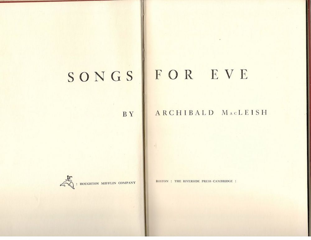 Archibald MacLeish songs for eve