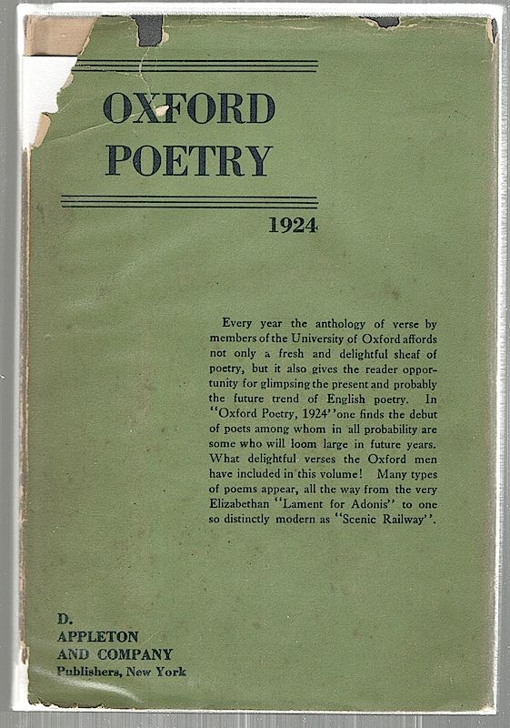 Oxford Poetry; 1924. Harold Acton, Peter Quennell.