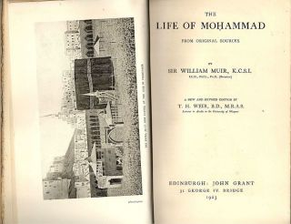 Life of Mohammad; From Original Sources