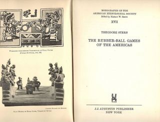 Rubber-Ball Games of the Americas