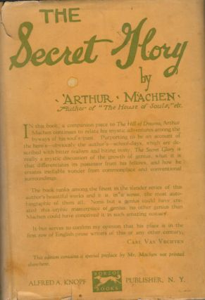 Secret Glory. Arthur Machen