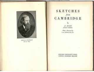 Sketches from Cambridge. Leslie Stephen.