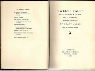 Twelve Tales; With a Headpiece, a Tailpiece, and an Intermezzo: Being Select Stories
