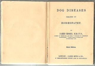 Dog Diseases; Treated by Homoeopathy