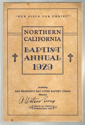 Northern California Baptist Annual, 1929. C. W. Brinstad