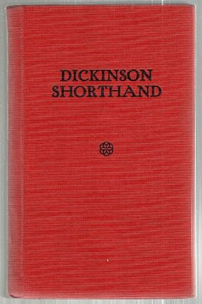 Dickinson Shorthand. Joseph B. Dickinson