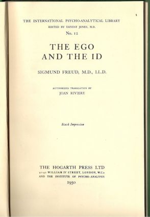 Ego and the Id. Sigmund Freud.