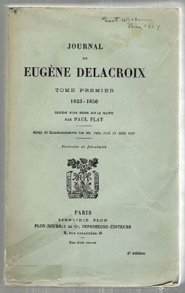 Journal de Eugène Delacroix. Paul Flat, introduction.