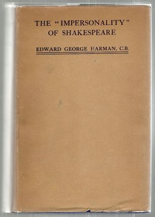 """Impersonality"" of Shakespeare. Edward George Harman."
