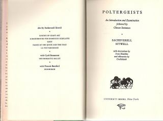 Poltergeists; An Introduction and Examination Followed by Chosen Instances