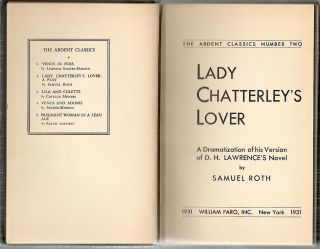 Lady Chatterley's Lover; A Dramatization of His Version of D. H. Lawrence's Novel