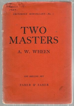 Two Masters. A. W. Wheen