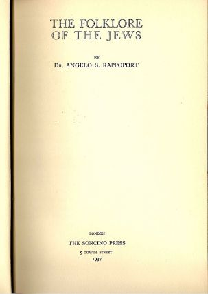 Folklore of the Jews. Angelo S. Rappoport