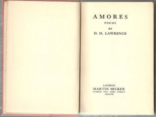 Amores; Poems