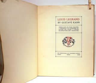 Louis Legrand; Three Cuts in Four Colours, 31 Drawings on Superfine Unglazed Art Paper, 21 Tinted Illustrations and 1 Engraving