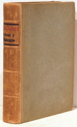 Bibelot; A Reprint of Poetry and Prose for Book Lovers, Chosen in Part from Scarce Editions and Sources Not Generally Known