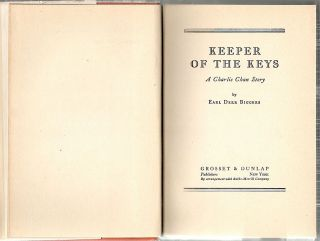 Keeper of the Keys; A Charlie Chan Story