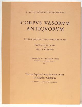 Corpus Vasorum Antiquorum; The Los Angeles County Museum of Art. Pamela M. Packard