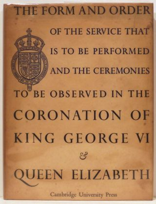 Form and Order of the Service that is to be Performed and the Ceremonies that are to be...