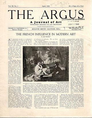 Argus; A Journal of the Art. Junius Cravens
