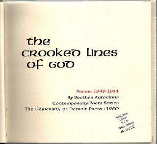 Crooked Lines of God; Poems 1949-1994
