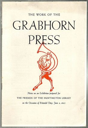Work of the Grabhorn Press. Roland Baughman